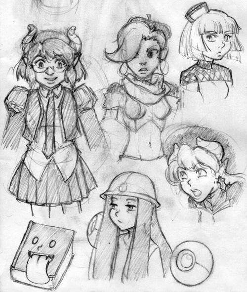 Aeternum characters by Rikki